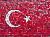 Мозаика флага Турции в Стамбуле