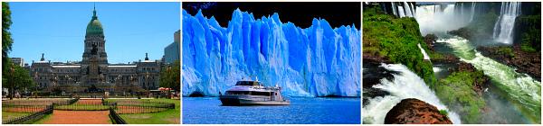 От водопадов к ледникам: Буэнос-Айрес - Калафате - Водопады Игуасу.