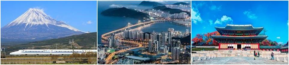 Золотое кольцо Японии + 3 столицы Южной Кореи