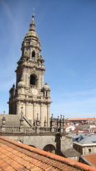 Вид на город Сантьяго де Компостелла с крыши Кафедрального собора