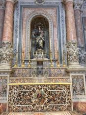 Прекрасное сицилийское барокко, все из разноцветных камней. Храм в Кальтанисетте. Фрагмент.