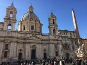 Рим. На площади Навона