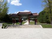 Вход на террриторию комплекса, где расположена могила короля Ван Гона. Объект наследия ЮНЕСКО