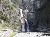 Водопад в горах Механ