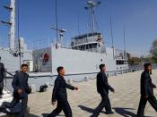 Американский шпионский корабль Pueblo - экспонат музея Победы