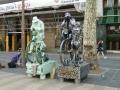 Живые статуи на улице Ла Рамбла