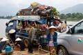 Переправа-переправа, берег левый, берег правый… на пароме в Чампассак через реку Меконг. Чампассак