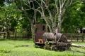 Остатки разрушенной колониальной ж/д Лаос-Камбоджа. О. Кон (Don Khon). Си Па Дон