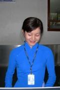 Очаровательная служащая АК «Вьетнамские Авиалинии». Дананг
