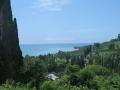 Вид на береговую линию Абхазии в Новом Афоне
