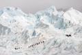Группа туристов спускается с ледника в Аргентине