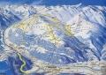 Карта Майрхофена и близлежащих склонов Альп, Австрия