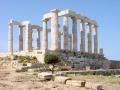 Руины храма Посейдона на мысе Сунион в Аттике, Греция
