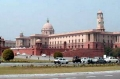 Припаркованные автомобили на фоне Президентского дворца в Нью-Дели, Индия